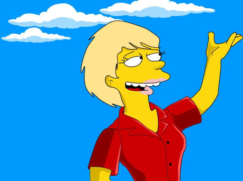 As a simpson's character